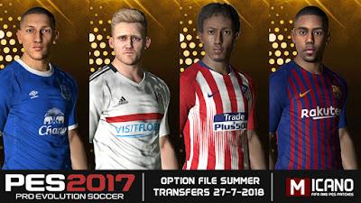 PES 2017 Next Season Patch 2019 Option File 27/07/2018