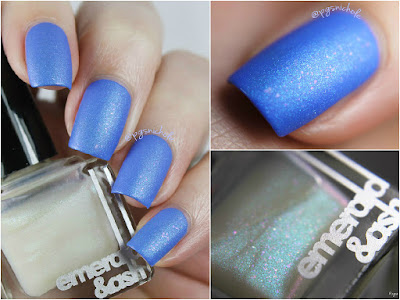 Emerald & Ash Temper Tantrum over Sally Hansen Pacific Blue
