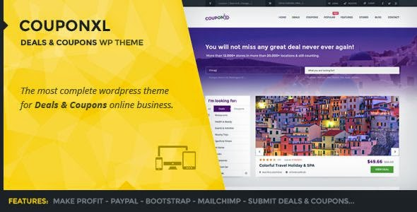 Best deals discounts and coupons WordPress theme