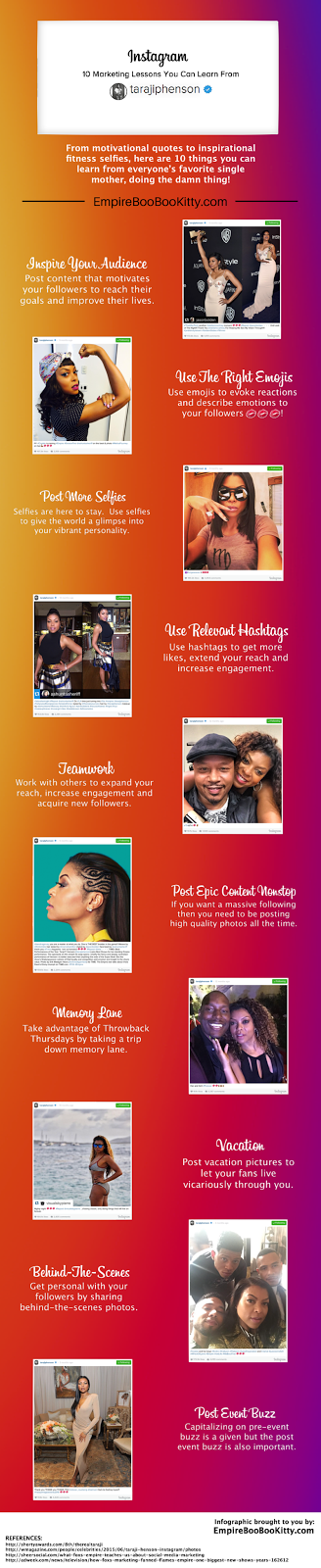 Taraji P Henson Instagram Marketing Lessons Infographic