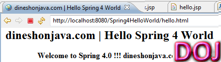 Hello World Example in Spring 4
