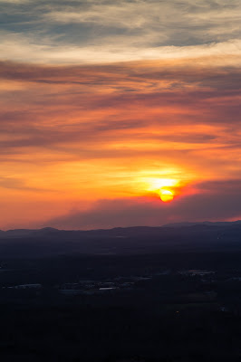 Sunset from Balanced Rock, Hot Springs National Park