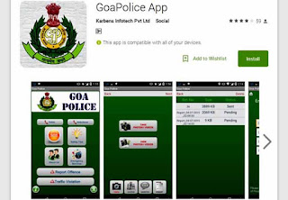 Goa Police, App, Goa Police App, Google Play, Android and iOS, itune