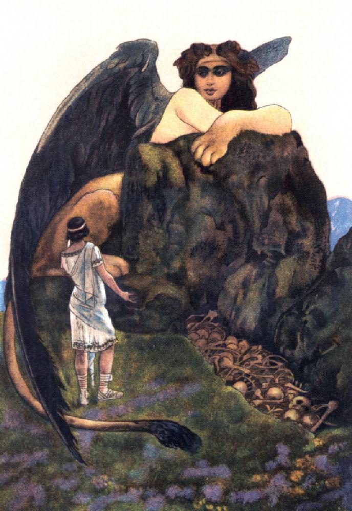 The sphinx oedipus