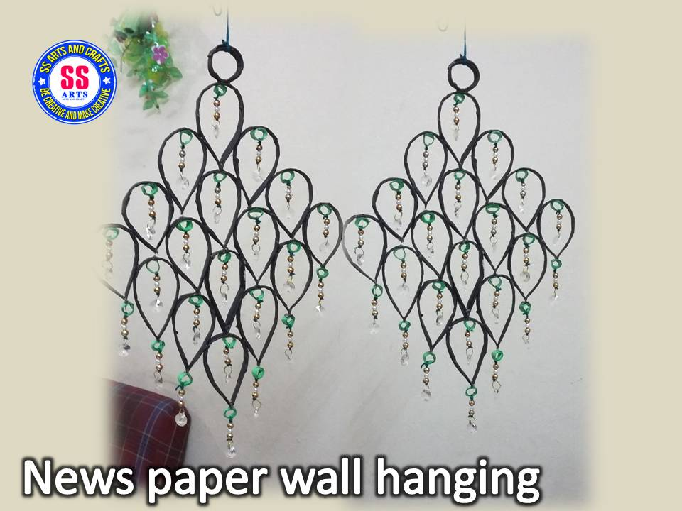 2017 ssartscrafts for Waste paper wall hanging