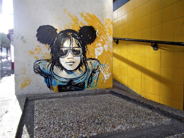 Рисунки на стенах. Alice Pasquini 34