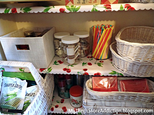 Vintage pantry storage