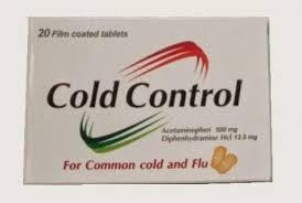 سعر ودواعي إستعمال كولد كنترول Cold Control أقراص لعلاج البرد