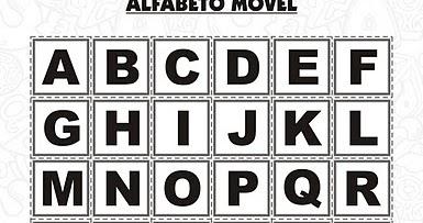 Letras Móveis Para Imprimir Alfabetos Lindos