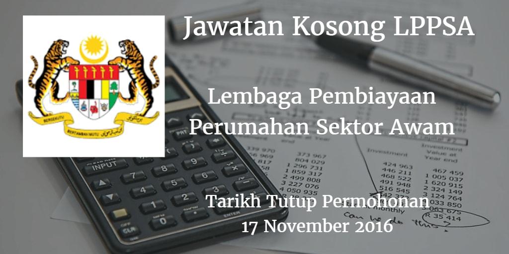 Jawatan Kosong LPPSA 17 November 2016