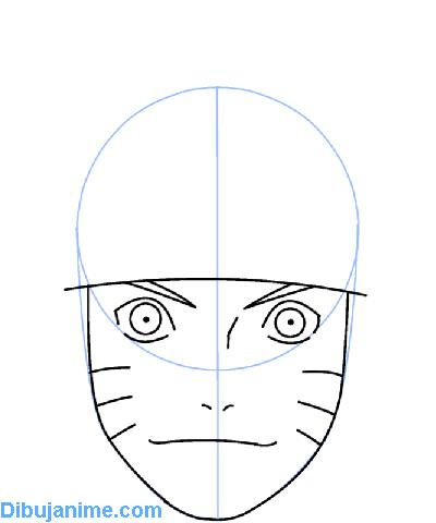 Como Dibujar Naruto Tutorial Para Aprender A Dibujar Cara Paso A