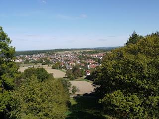 Blick von der St. Barbara-Kapelle Langensteinbach
