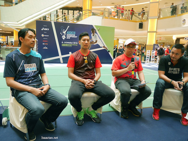 Even Rashid Sidek was there, representing Sports Affair, together with the other national athletes and ASICS representative