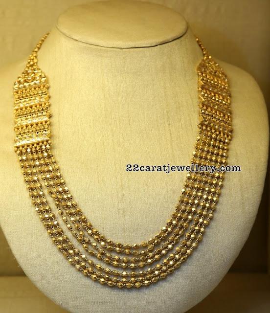 Gold Palaka Mala in Multi Layers