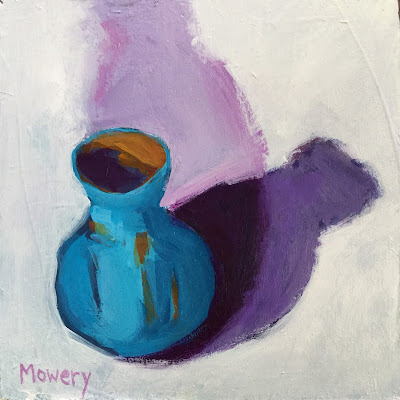 Small painting of a vase by maryland artist barb mowery available in her etsy shop bbmowery