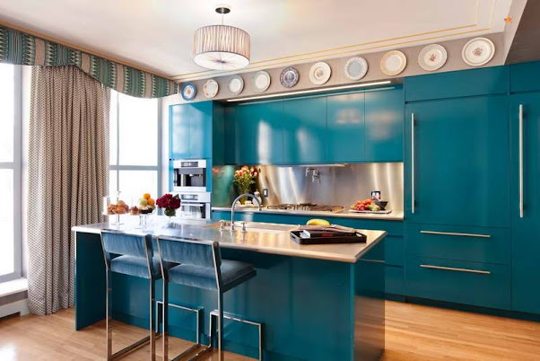 Desain Dapur Modern Nuansa Hijau 01