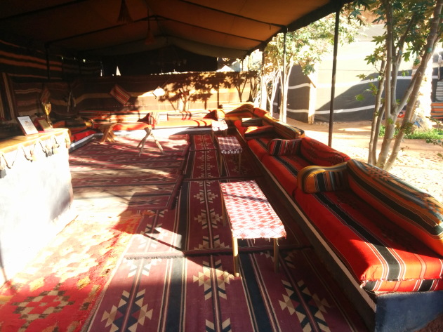 Traditional decor of a Wadi Rum desert camp