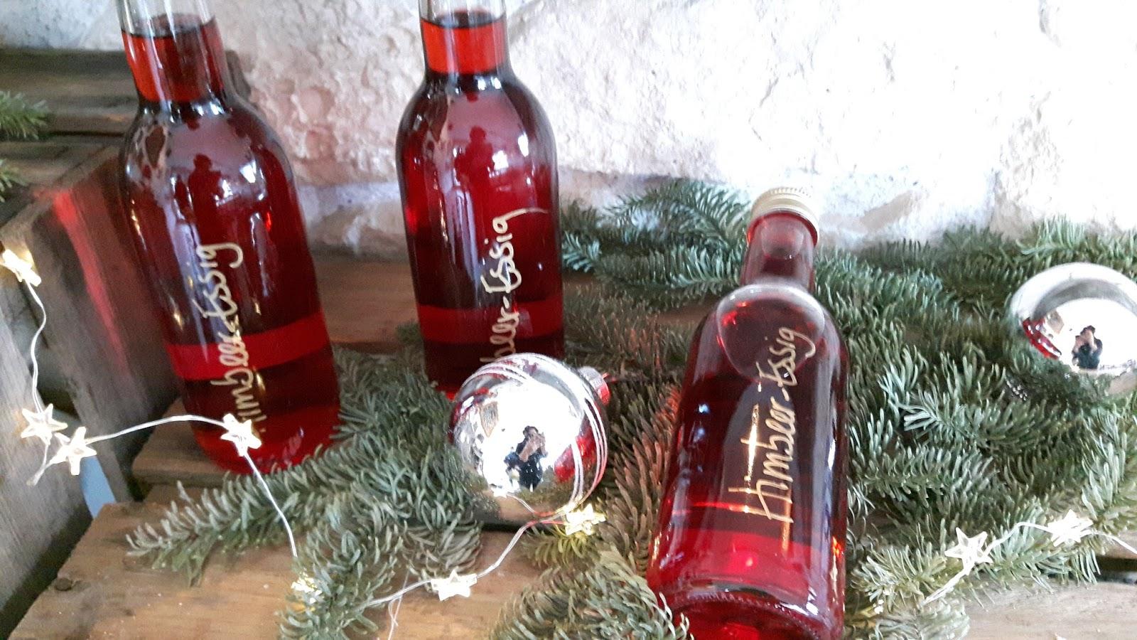 Leckere Weihnachtsgeschenke.Leckere Geschenke Aus Der Kinderkueche Himbeer Essig Last Minute