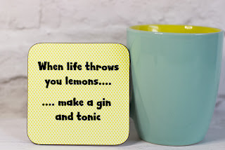 Gin and tonic coaster