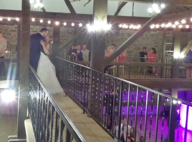 bride and groom on catwalk
