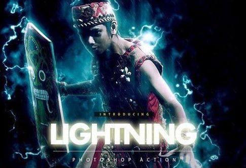 Share Lightning Photoshop Action Free Tạo Hiệu Ứng Hình Ảnh Đẹp