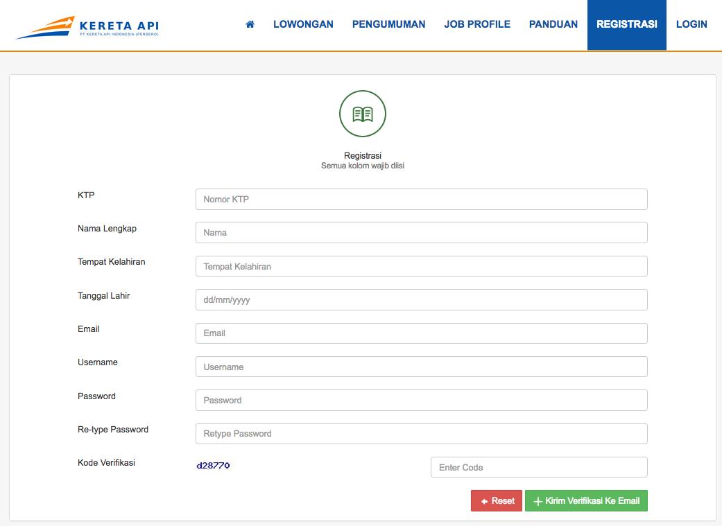 Panduan Pendaftaran Rekrutmen Pt Kai Untuk Lulusan Sma Klik