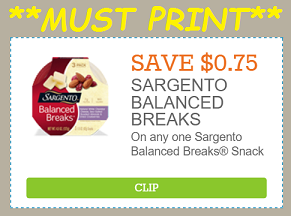 image regarding Sargento Printable Coupon named Intense Couponing Mommy: **Should really PRINT** $.75/1 Sargento