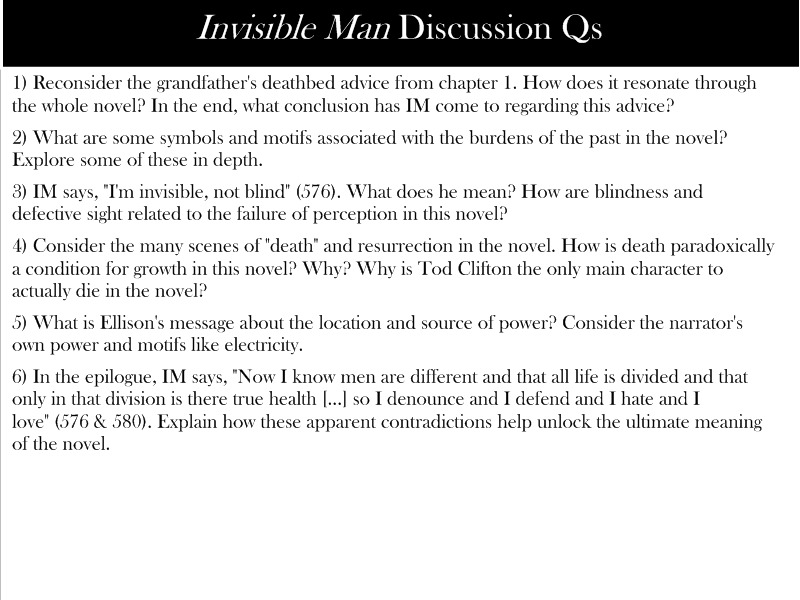 conclusion of the novel the invisible man