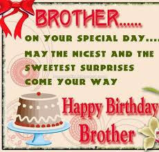 Happy Birthday wishes for brother: on your special day may the nicest and the sweetest surprises come your way