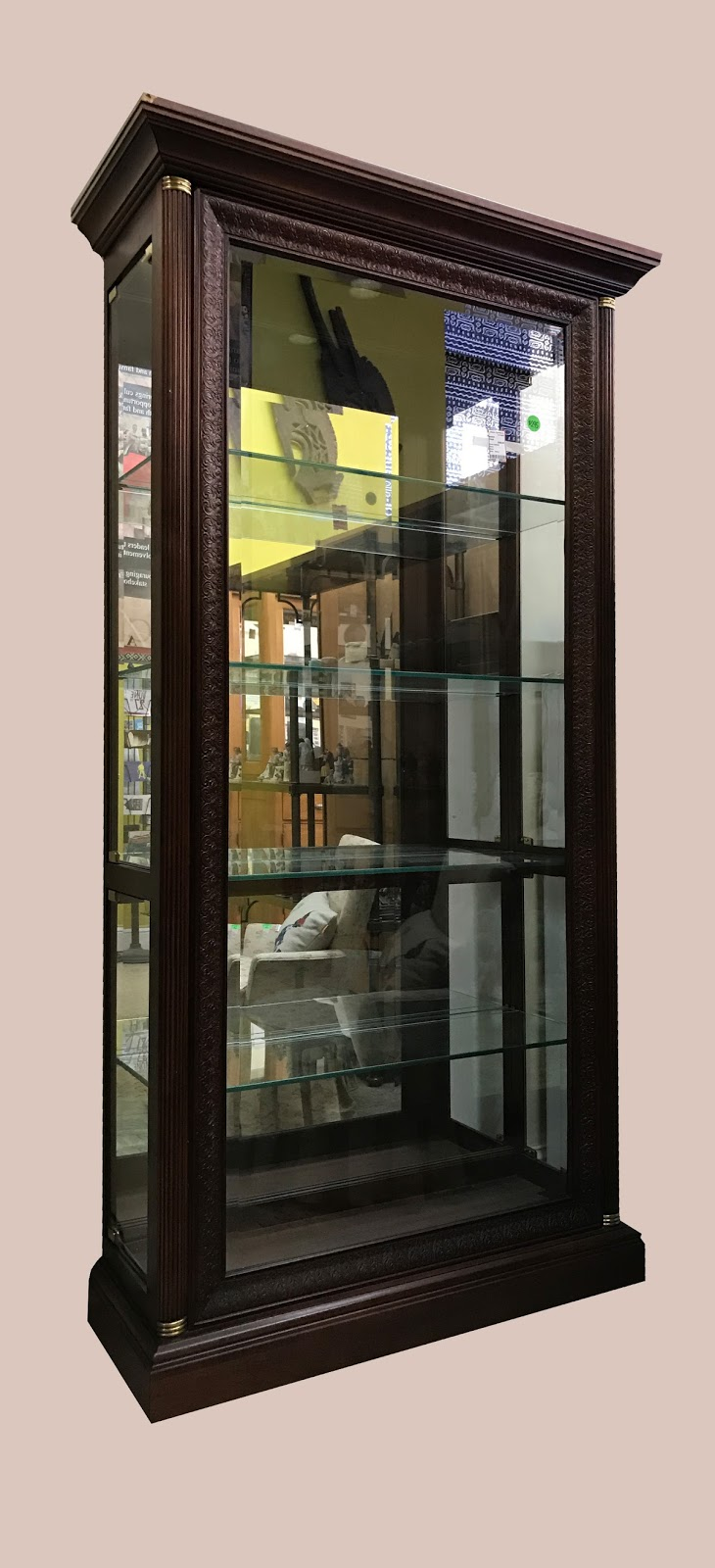 Uhuru Furniture & Collectibles: Large Lighted Curio ...