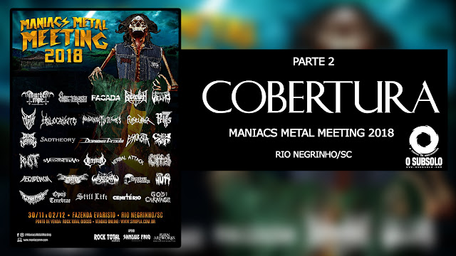 MANIACS METAL MEETING 2018 - O SUBSOLO | PORTAL DO UNDERGROUND