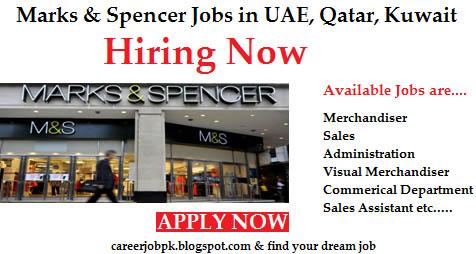 Latest Jobs In Marks & Spencer UAE,QATAR,Kuwait,Egypt