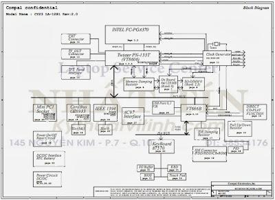 Acer Aspire 1200, LA-1281 Free Download Laptop Motherboard