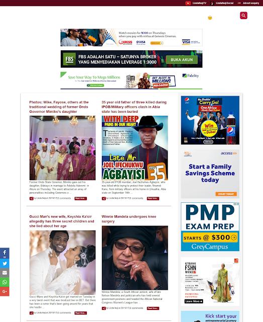 Blog Linda Ikeji Dengan Template Baru