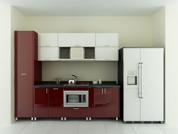 Tủ bếp chất liệu Acrylic chữ I