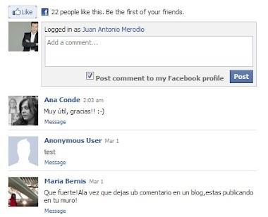 Comentarios de Facebook en Blogger