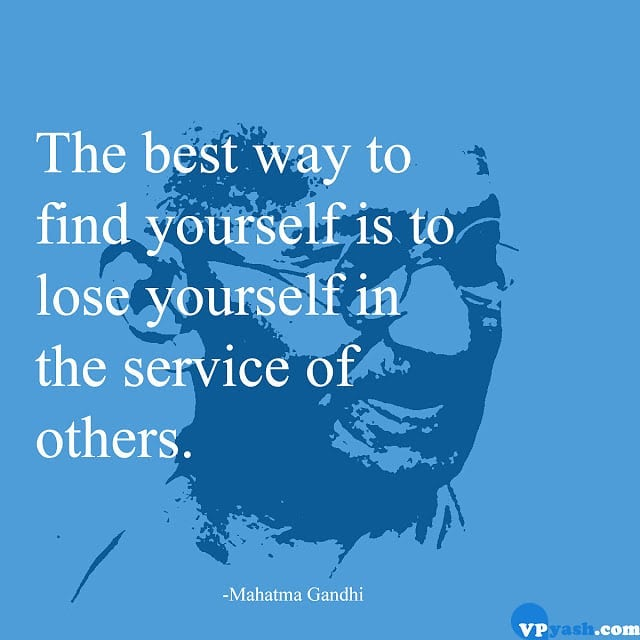 Giving Yourself In Others Service. Gives You Mind's Peace