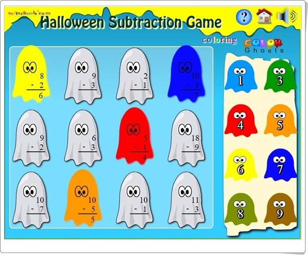 """Halloween Subtraction Game"" (Juego de Resta hasta 12)"