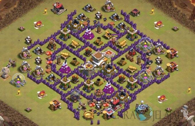 Base Trophy TH 8 di Clash Of Clans Terbaru Tipe 15