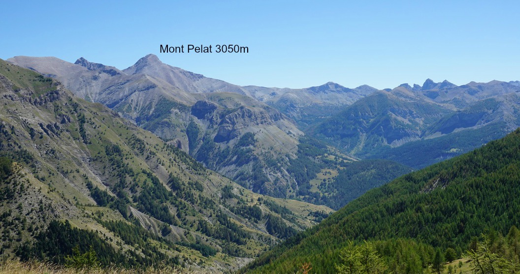 Mont Pelat 3050 m seen from the trail to Rochegrand