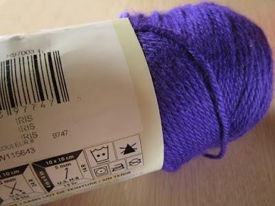 yarn, Caron Simply Soft, Iris
