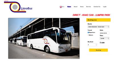 Public transport at Don Muang Airport in Bangkok