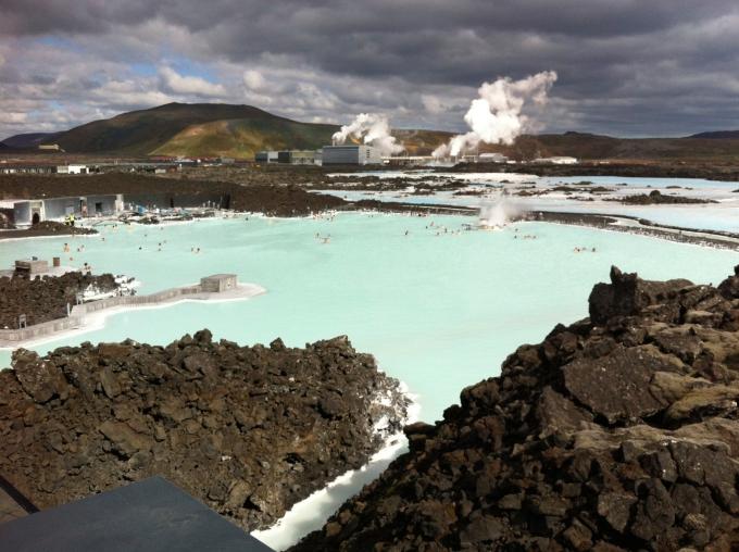 Islanti ja Blue Lagoon, kuumat lähteet
