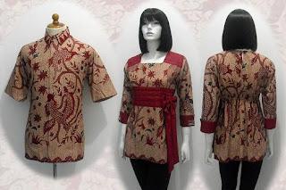 Gambar Model Baju Batik Solo Seragam Kantor Terbaru