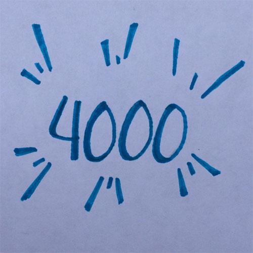 meer dan 4000 paginabezoeken