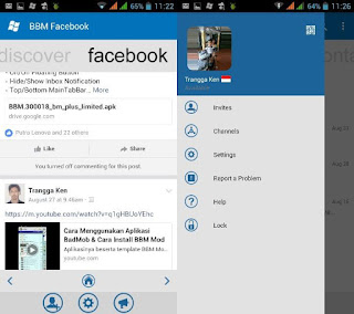 BBM Mod Style WindowsPhone Base 3.0.1.25 [WP] with Facebook Fragment