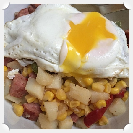 Sausage, Pepper, and Corn Hash