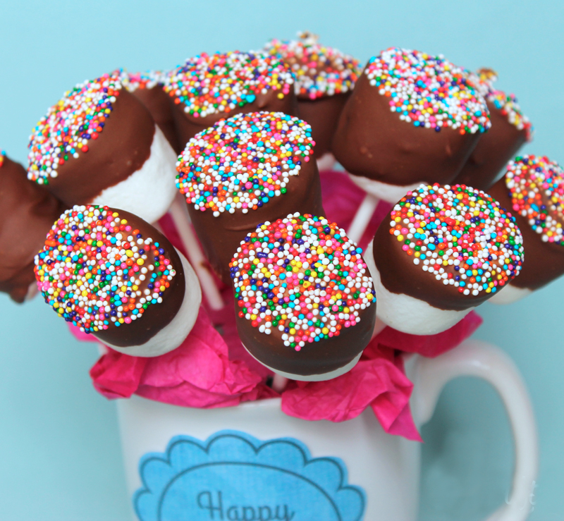 Chocolate Covered Marshmallow Pops Bouquet