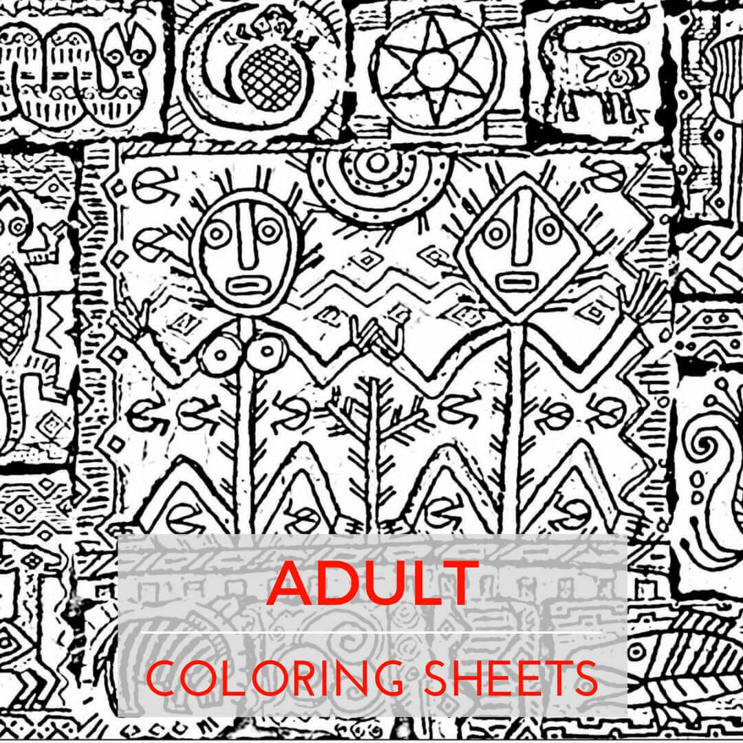 Adult Coloring Sheets - For Stress Relief?