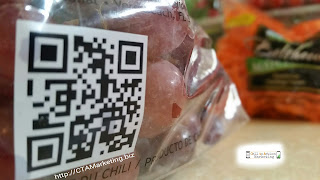 See how this company used QR Codes on the product packaging for grapes